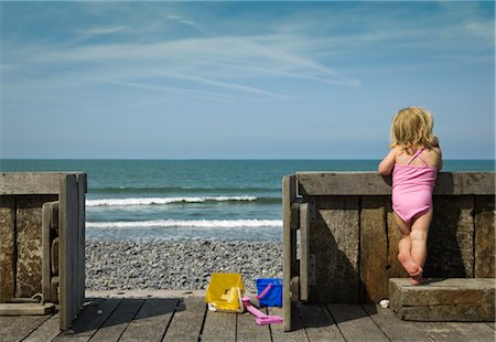 Girl Looking at Ocean Stock Photo - Rights-Managed, Code: 700-03290130