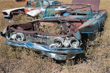 Vintage Car in Old Junk Yard, Colorado, USA Stock Photo - Rights-Managed, Code: 700-03333234