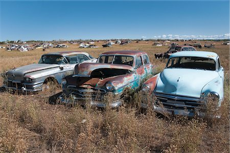 Vintage Cars in Old Junk Yard, Colorado, USA Stock Photo - Rights-Managed, Code: 700-03333230