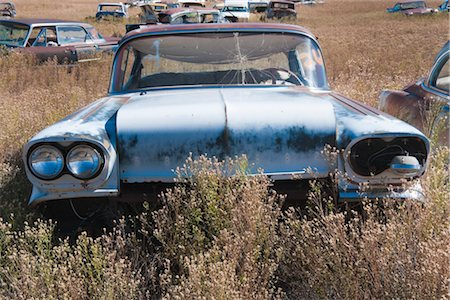 Vintage Cars in Old Junk Yard, Colorado, USA Stock Photo - Rights-Managed, Code: 700-03333231