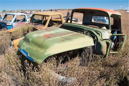 Vintage Pickup Trucks in Old Junk Yard, Colorado, USA Stock Photo - Rights-Managed, Code: 700-03333233