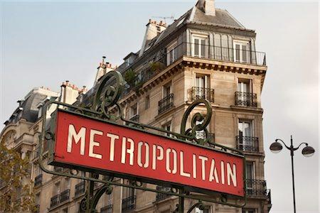 Metro Sign, Rue de Rennes, Paris, Ile-de-France, France Stock Photo - Rights-Managed, Code: 700-03333587