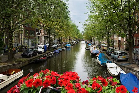 View of Canal, Amsterdam, North Holland, Netherlands Stock Photo - Rights-Managed, Code: 700-03333713