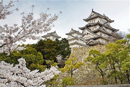 Himeji Castle, Himeji City, Hyogo, Kansai Region, Honshu, Japan Stock Photo - Rights-Managed, Code: 700-03392407