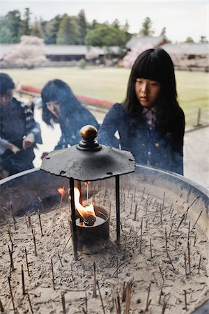 Girl, Todaiji Temple, Nara, Nara Prefecture, Kansai Region, Honshu, Japan Stock Photo - Rights-Managed, Code: 700-03392434