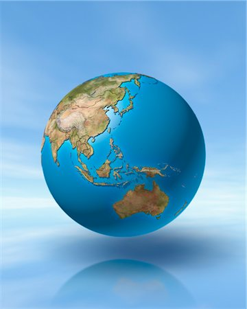 World Globe, Showing Pacific Rim Stock Photo - Rights-Managed, Code: 700-03404163