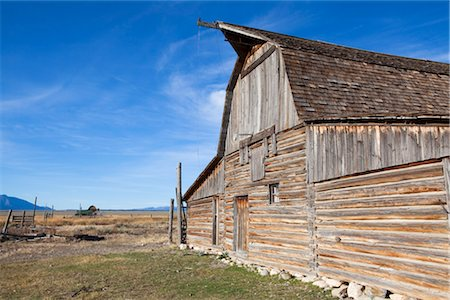 John Moulton Barn, Mormon Row, Jackson Hole, Grand Teton National Park, Wyoming, USA Stock Photo - Rights-Managed, Code: 700-03407439