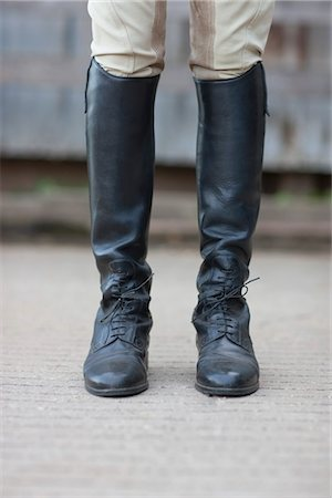 equestrian - Close-up of Woman's Riding Boots Stock Photo - Rights-Managed, Code: 700-03407789