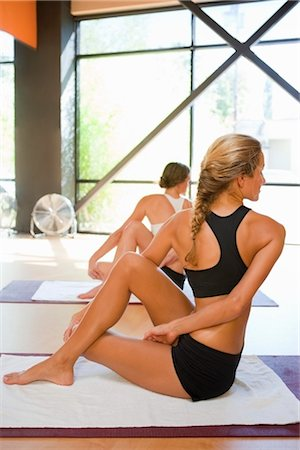 Women doing Bikram Yoga Stock Photo - Rights-Managed, Code: 700-03407808
