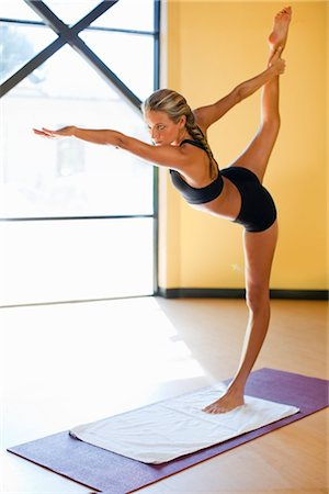 Woman doing Bikram Yoga Stock Photo - Rights-Managed, Code: 700-03407819