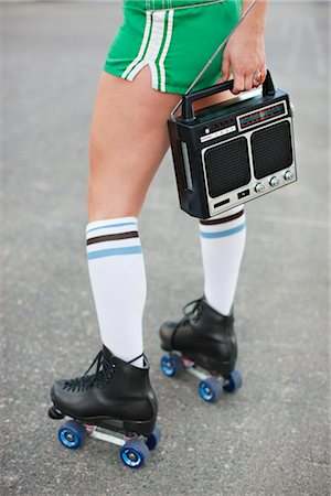 roller skate - Woman Roller Skating Stock Photo - Rights-Managed, Code: 700-03407883