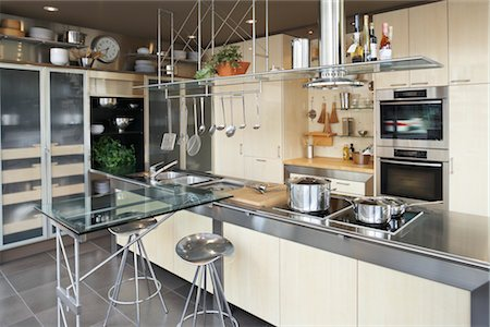 Luxury Kitchen Stock Photo - Rights-Managed, Code: 700-03407943