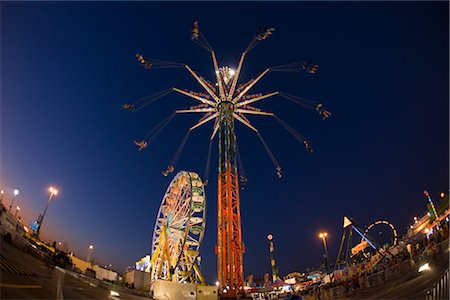 exhibition - CNE at Night, Toronto, Ontario, Canada Stock Photo - Rights-Managed, Code: 700-03407979
