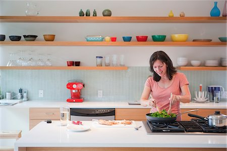 Woman Cooking Dinner Stock Photo - Rights-Managed, Code: 700-03439484