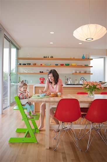 Mother and Daughter in Kitchen Stock Photo - Premium Rights-Managed, Artist: Ty Milford, Image code: 700-03439487