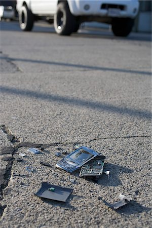 Broken Cell Phone Stock Photo - Rights-Managed, Code: 700-03439600