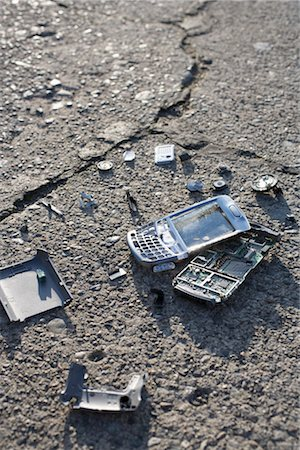 Broken Cell Phone Stock Photo - Rights-Managed, Code: 700-03439601
