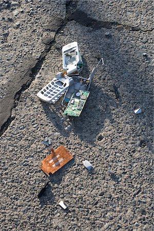 Broken Cell Phone Stock Photo - Rights-Managed, Code: 700-03439603