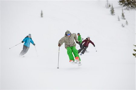sports and snowboarding - Skiers and Snowboarders near Steamboat Springs, Colorado, USA Stock Photo - Rights-Managed, Code: 700-03439864
