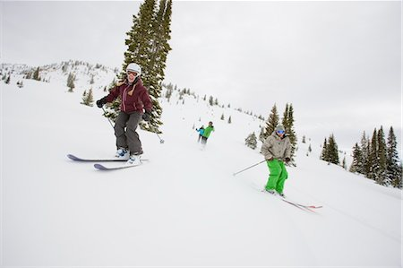 sports and snowboarding - Skiers and Snowboarders near Steamboat Springs, Colorado, USA Stock Photo - Rights-Managed, Code: 700-03439865