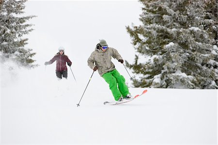 People Snow Cat Skiing near Steamboat Springs, Colorado, USA Stock Photo - Rights-Managed, Code: 700-03439866