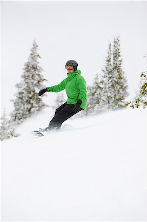 sports and snowboarding - Man Snowboarding near Steamboat Springs, Colorado, USA Stock Photo - Rights-Managed, Code: 700-03439862