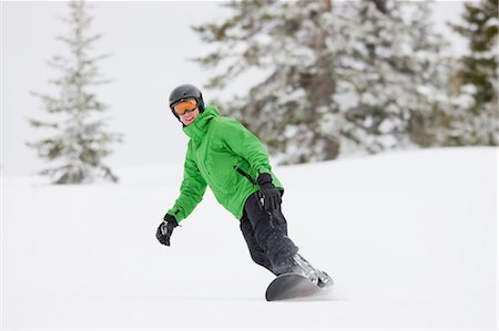 sports and snowboarding - Man Snowboarding near Steamboat Springs, Colorado, USA Stock Photo - Rights-Managed, Code: 700-03439871