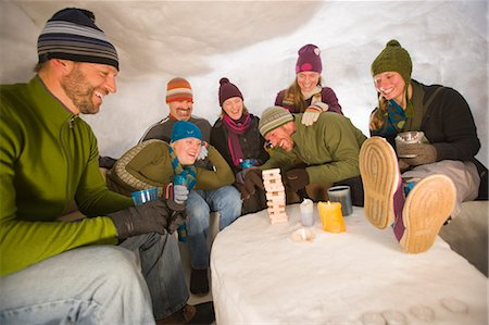 People in Igloo, Steamboat Springs, Colorado, USA Stock Photo - Rights-Managed, Code: 700-03439918