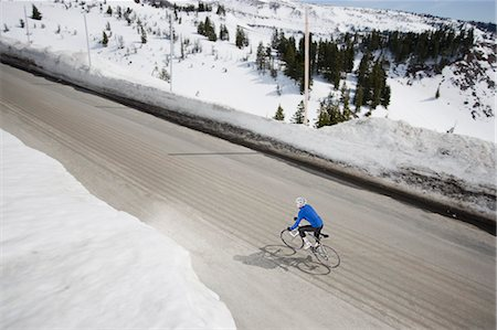 Man Riding Bike, Mt Hood, Oregon, USA Stock Photo - Rights-Managed, Code: 700-03439920