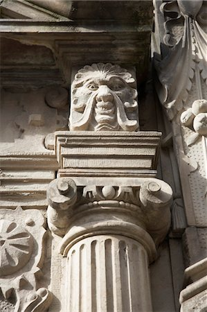 decorative - Close-Up of Stone Face on Building Stock Photo - Rights-Managed, Code: 700-03445027