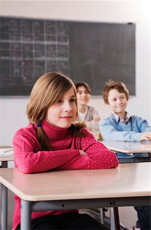 school desk - Students in Class Stock Photo - Rights-Managed, Code: 700-03445066