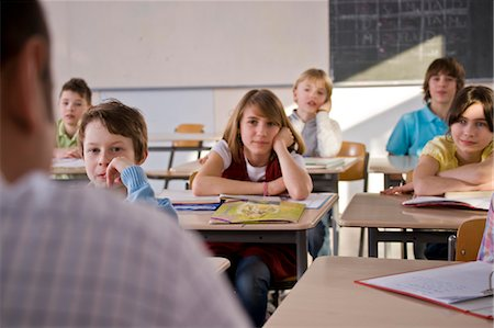 school desk - Teacher and Students in Classroom Stock Photo - Rights-Managed, Code: 700-03445111
