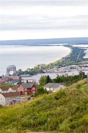 Houses and Shoreline, Duluth, Minnesota, USA Stock Photo - Rights-Managed, Code: 700-03445669