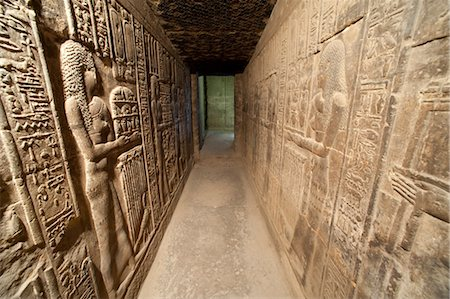 egyptian hieroglyphics - Hallway with Hieroglyphs, Abydos, Egypt Stock Photo - Rights-Managed, Code: 700-03445927