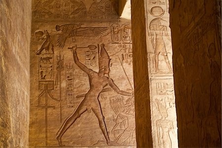 egyptian hieroglyphics - Hierglyphs in Great Temple, Abu Simbel, Nubia, Egypt Stock Photo - Rights-Managed, Code: 700-03445975