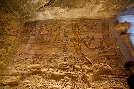 egyptian hieroglyphics - Hieroglyphs in Great Temple at Abu Simbel, Nubia, Egypt Stock Photo - Rights-Managed, Code: 700-03445977