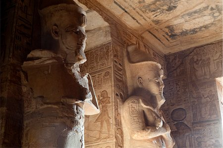 egyptian hieroglyphics - Temple at Abu Simbel, Nubia, Egypt Stock Photo - Rights-Managed, Code: 700-03445971