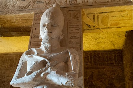 egyptian hieroglyphics - Statue in The Great Temple at Abu Simbel, Nubia, Egypt Stock Photo - Rights-Managed, Code: 700-03445973