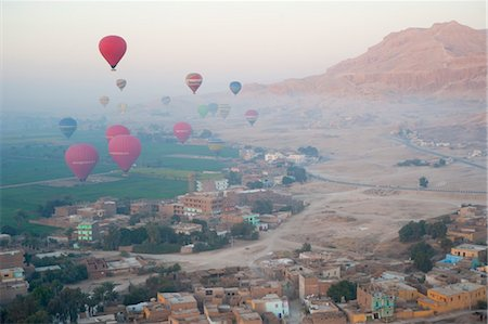 egypt - Hot Air Ballooning over Valley of the Kings, near Luxor, Egypt Stock Photo - Rights-Managed, Code: 700-03446004