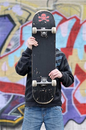 Portrait of Boy With Skateboard Stock Photo - Rights-Managed, Code: 700-03446048