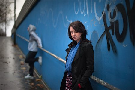sad lovers break up - Teenagers Hanging Out by Graffiti Wall Stock Photo - Rights-Managed, Code: 700-03446052