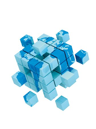 World Map on 3D Cube Stock Photo - Rights-Managed, Code: 700-03448748
