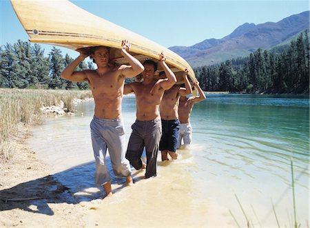 Group of Men Carrying a Canoe Stock Photo - Rights-Managed, Code: 700-03448764