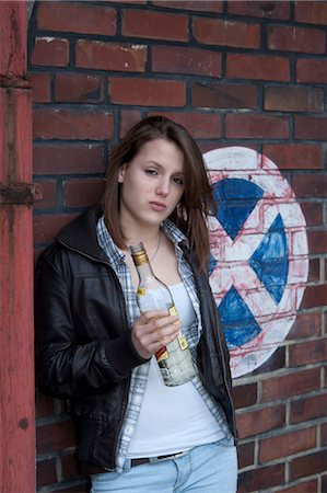 Teenage Girl Drinking Alcohol Stock Photo - Rights-Managed, Code: 700-03454509