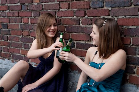 Teenage Girls Drinking Alcohol Stock Photo - Rights-Managed, Code: 700-03454520
