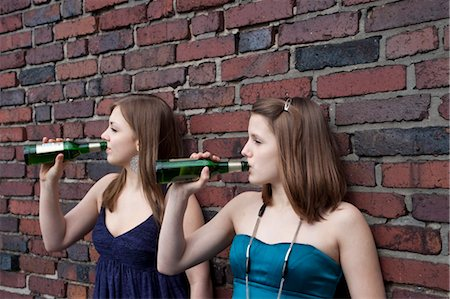 Teenage Girls Drinking Alcohol Stock Photo - Rights-Managed, Code: 700-03454521