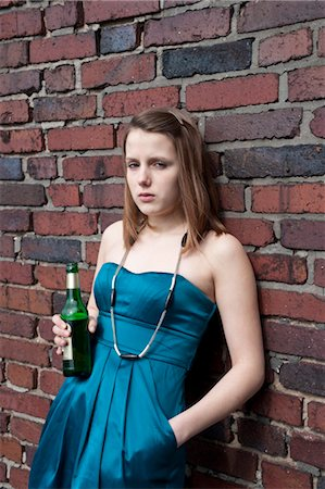Teenage Girl Drinking Alcohol Stock Photo - Rights-Managed, Code: 700-03454522