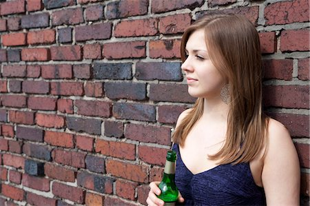 Teenage Girl Drinking Alcohol Stock Photo - Rights-Managed, Code: 700-03454523