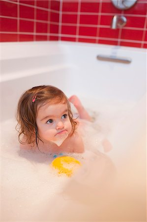 Girl in Bathtub Stock Photo - Rights-Managed, Code: 700-03455591