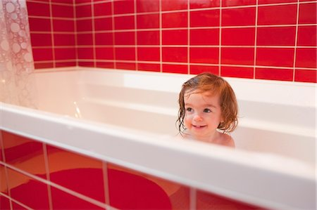 Girl in Bathtub Stock Photo - Rights-Managed, Code: 700-03455593
